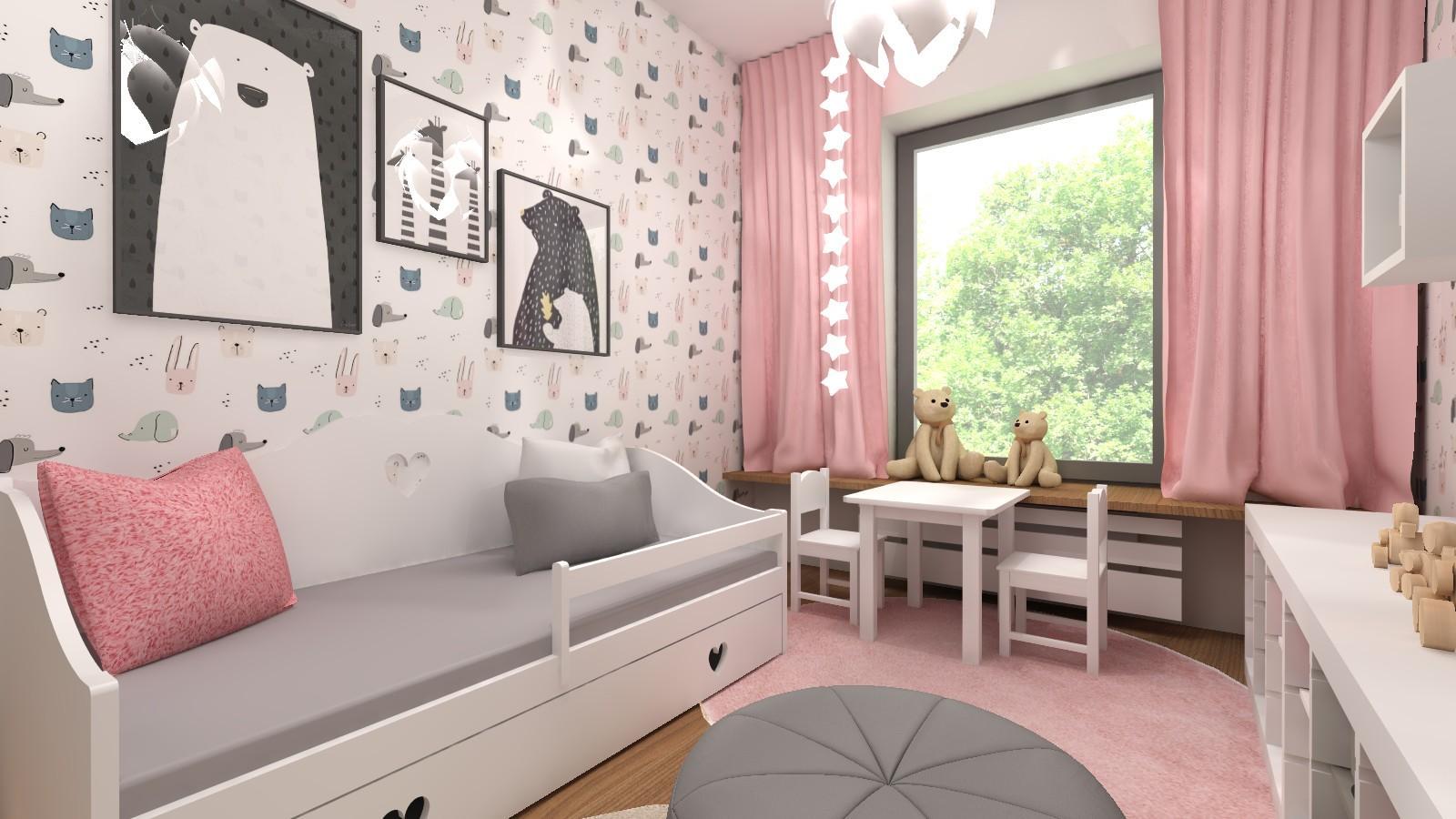 bialo-rozowy-pokoj-dziewczynki-z-tapeta-i-meblami-z-ikei-lozko-z-szufladami