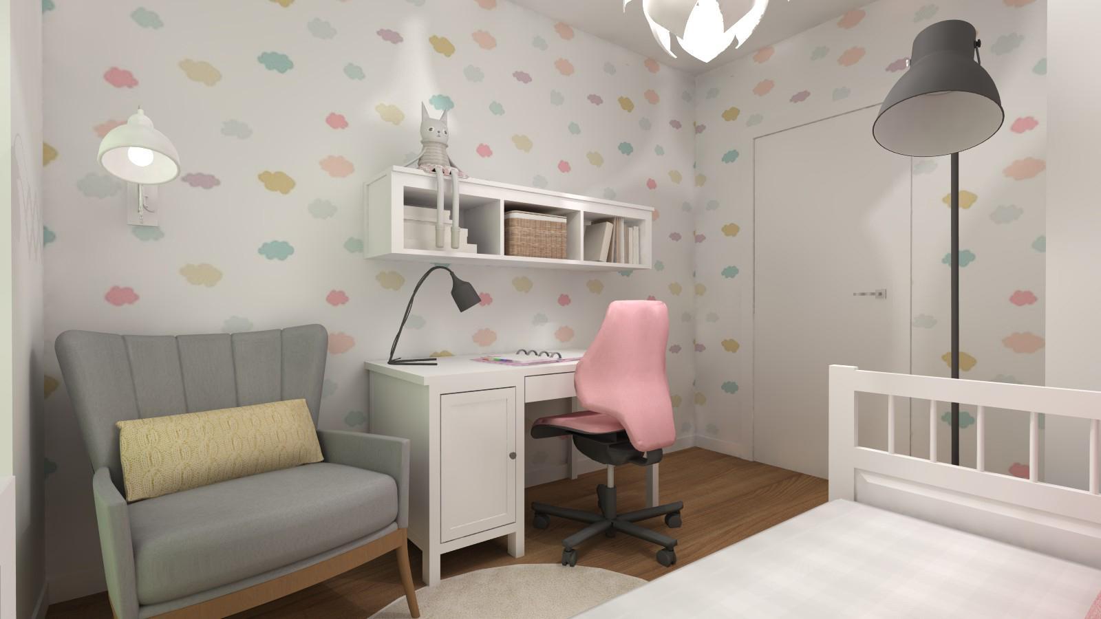 pokój dla dziewczynki z meblami z ikei
