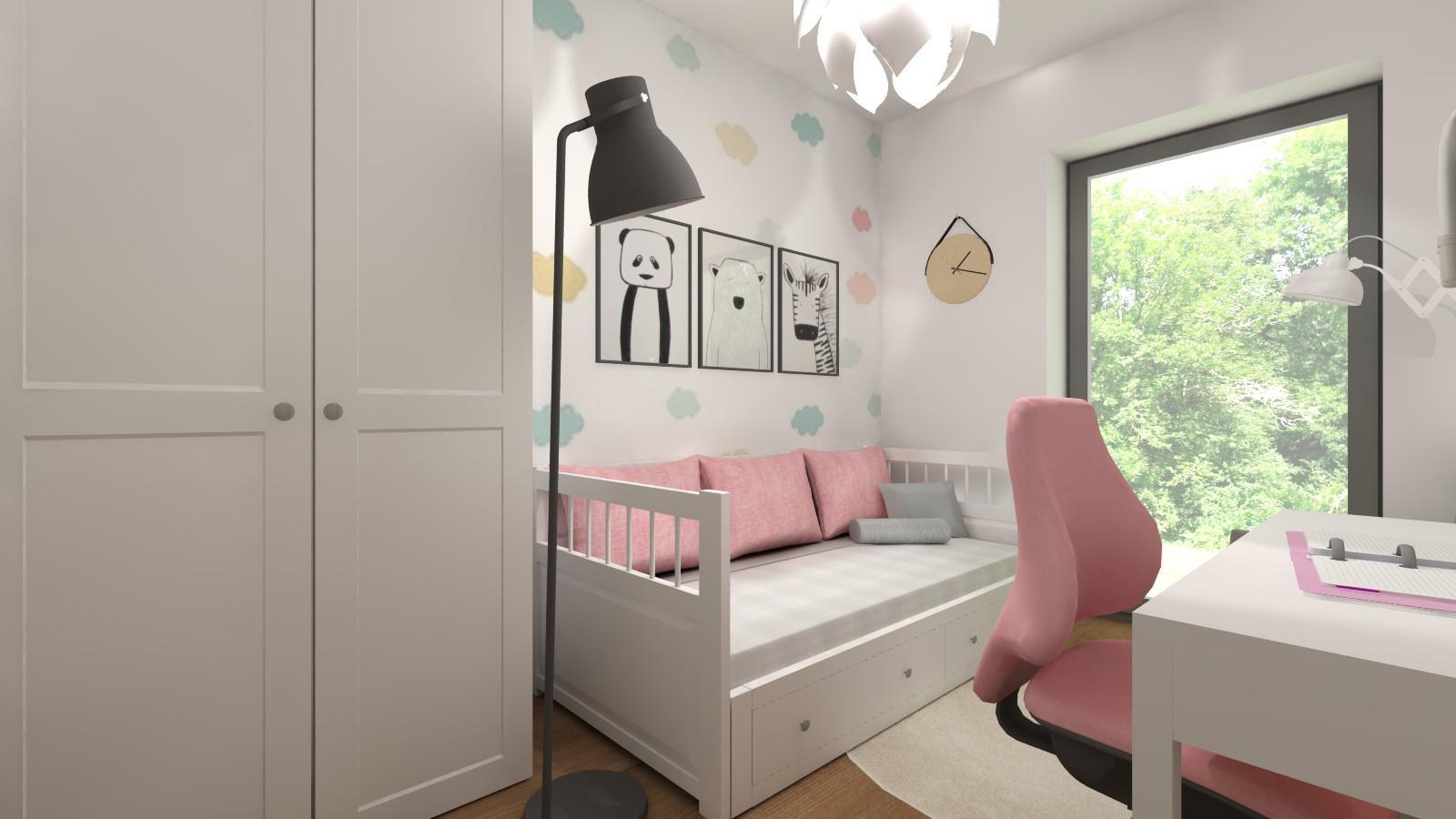 pokój dziewczynki z meblami z Ikea