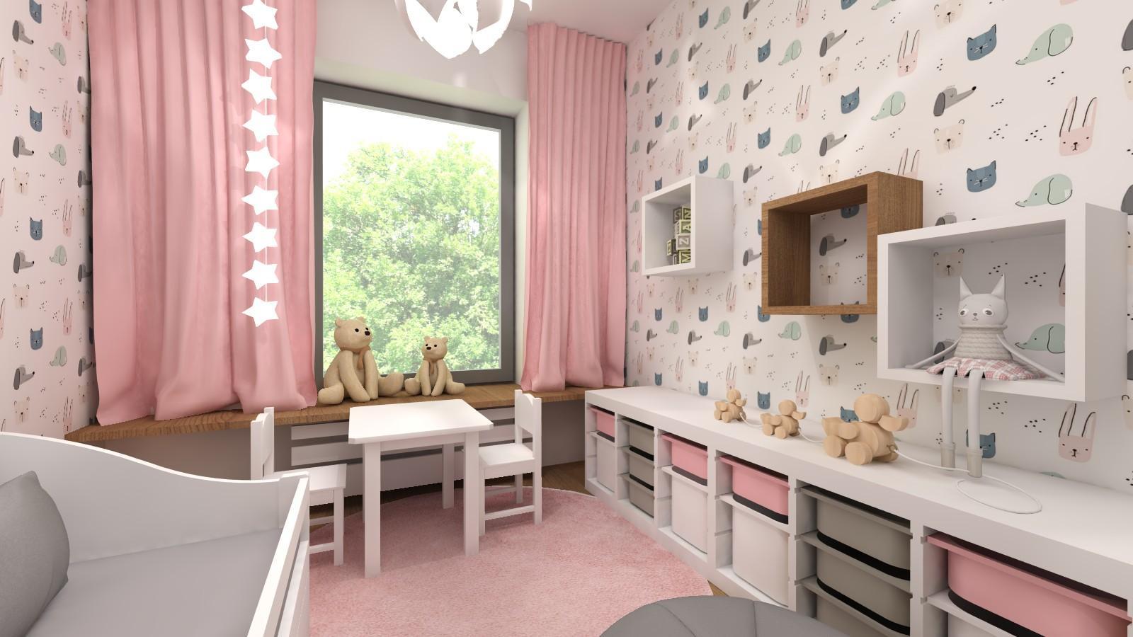 pokoj-dziewczynki-w-rozowym-z-meblami-IKEA
