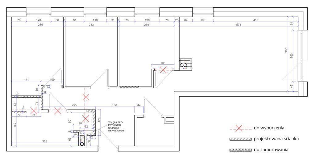 oferta cenowa pakiety rzut mieszkania ze zmianą w ściankach działowych