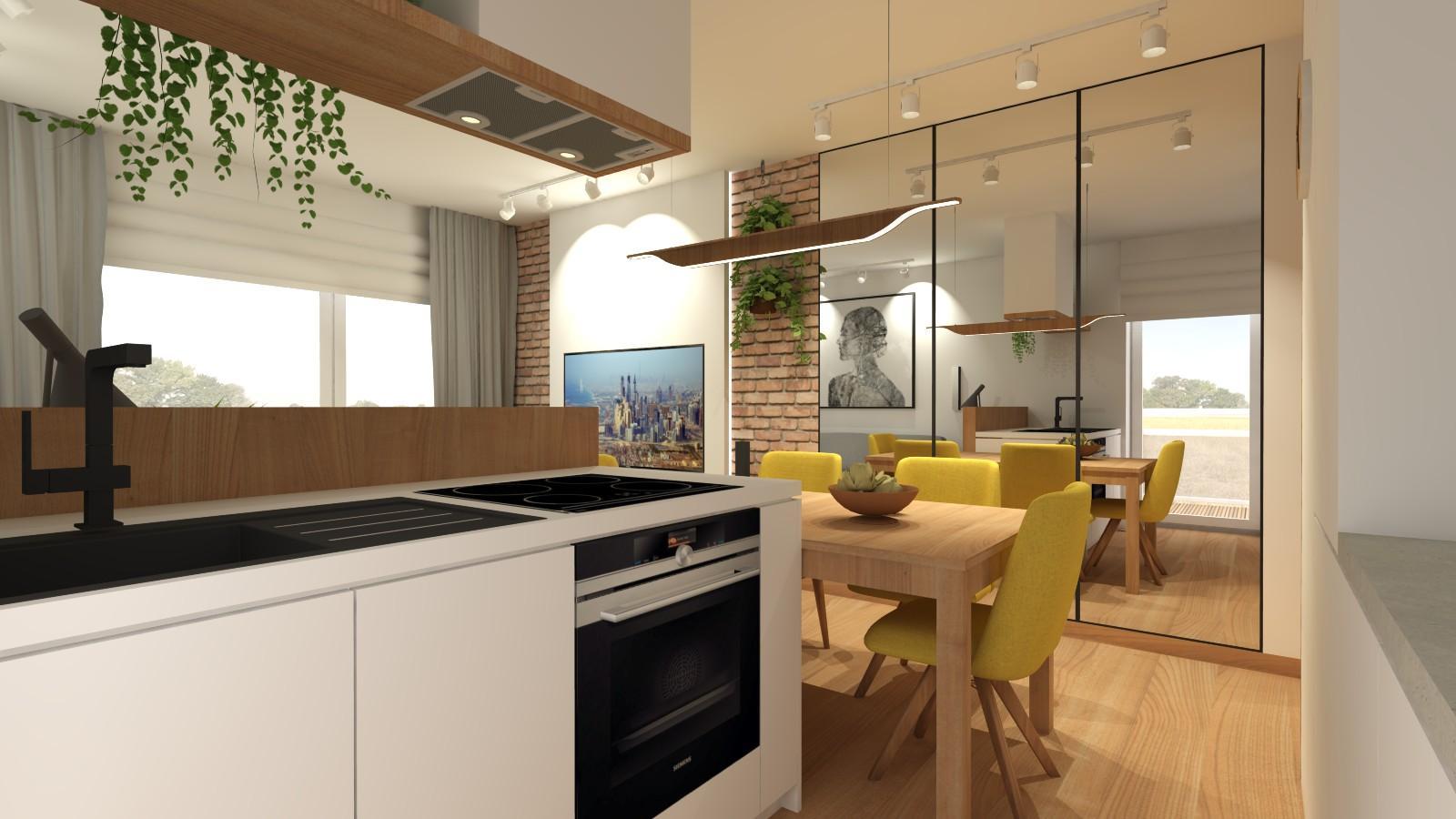 jadalnia-aneks-kuchenny-salon-w-loftowym-stylu-mieszkanie-w-bloku-powiekszenie-optyczne-pomieszczenia-lustra