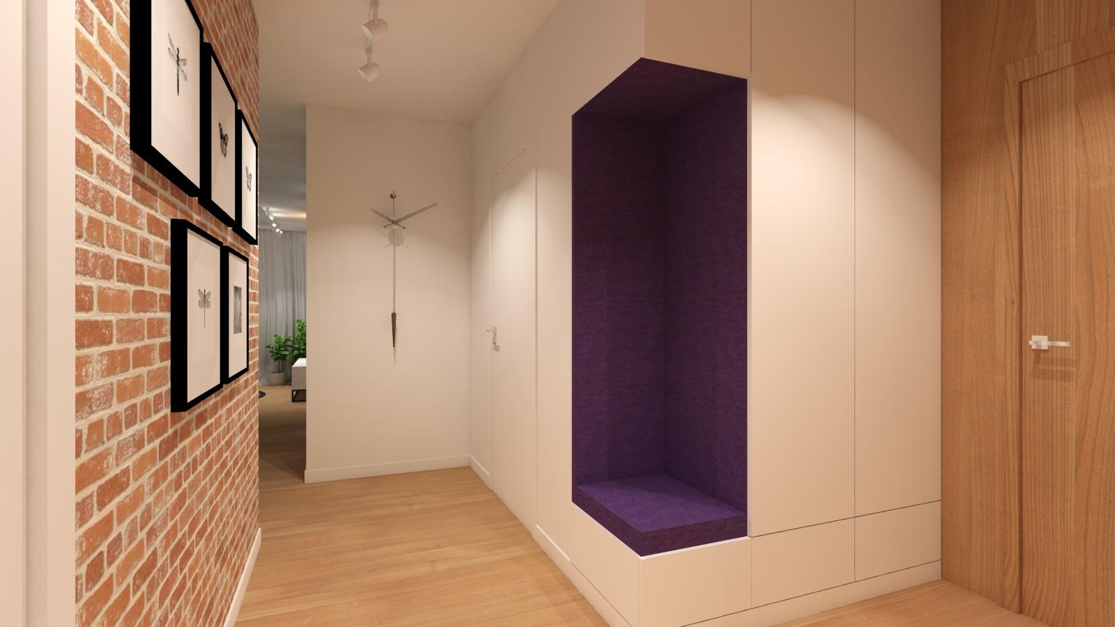 korytarz-z-cegla-na-scianie-siedziskiem