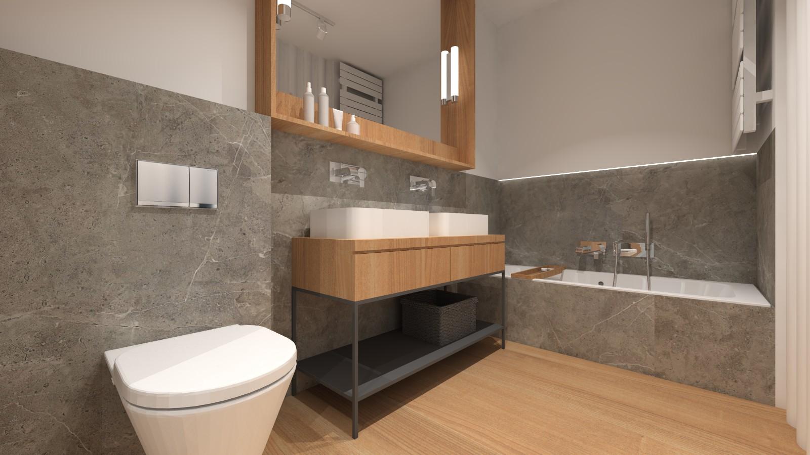 nowoczesna-lazienka-w-bloku-naturalne-kolory-kamien-drewno-szafka-loftowa-dwie-umywalki