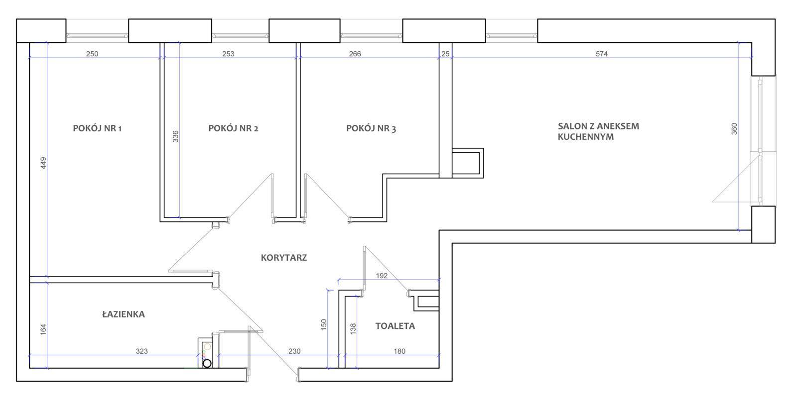 oferta cenowa pakiety rzut funkcjonalny mieszkania przed aranżacją